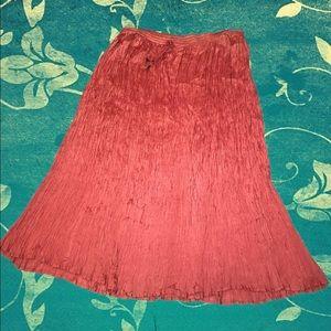 Dresses & Skirts - Long Flowy Crinkle Skirt💕 Final price drop🌸